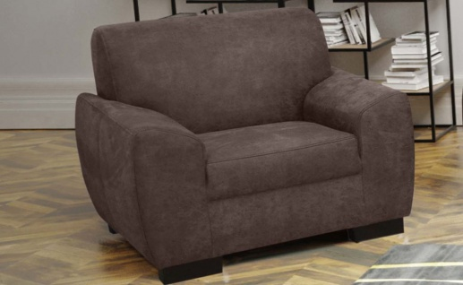 IMOERA Sessel Einzelsessel Fernsehsessel Sofa Couch Taupe Braun