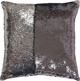 My BLING CUSHION Zierkissen, 100 % Polyester, Silber