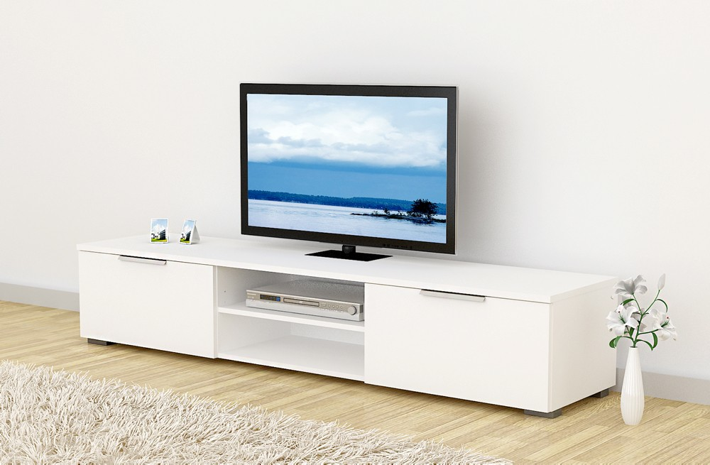 lowboard match tv m bel fernsehm bel wei hochglanz kaufen bei froschk nig24 gmbh. Black Bedroom Furniture Sets. Home Design Ideas