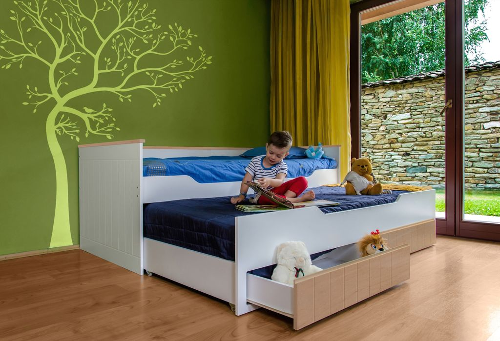 multifunktionsbett ronny kinderbett kinderzimmer bett wei buche kaufen bei froschk nig24 gmbh. Black Bedroom Furniture Sets. Home Design Ideas