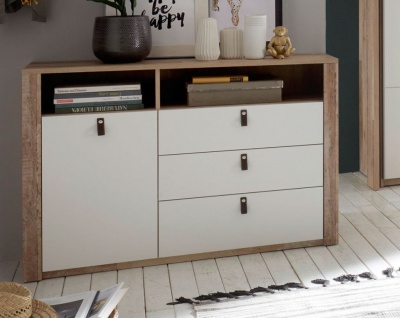 Cardiff Kommode Sideboard Anrichte Old Style hell / Weiß