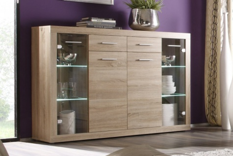 Highboard Can Can Highboard Anrichte Sonoma Eiche