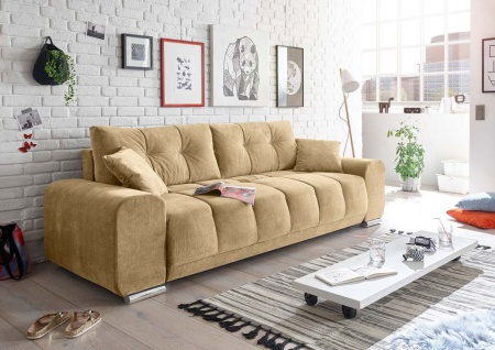 Paco Schlafsofa 260x90 cm Sofa Couch Schlafcouch Sand (Beige)
