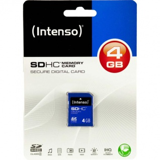 Intenso SDHC Memory Card 4 GB, blau (Secure Digital Card)