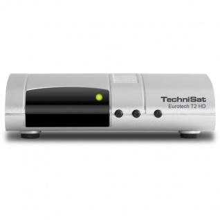 TechniSat Eurotech T2 HD DVB-T2-Receiver mit Single-Tuner für Empfang in HD, mit Multimedia-Player und Bicolor-LED-Display
