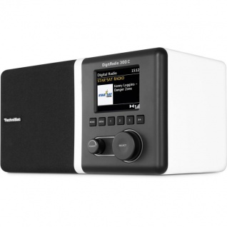 TechniSat DigitRadio 300 C, weiß (DAB, DAB+ und UKW Digitalradio)