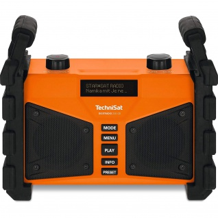 TechniSat DIGITRADIO 230 OD mobiles DAB+/UKW-Baustellenradio mit Akku und Bluetooth-Audiostreaming