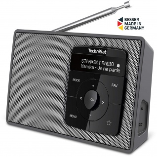 TechniSat DIGITRADIO 2 Portables DAB+/UKW-Stereo-Radio mit Bluetooth Audiostreaming
