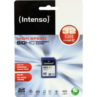 Intenso SDHC Memory Card 32 GB, blau (Secure Digital Card)