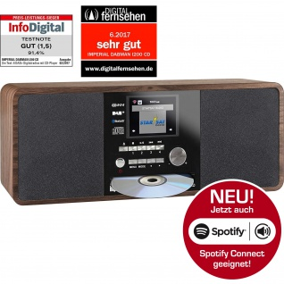 IMPERIAL DABMAN i200 CD Internet & DAB+ Stereo Radio, Spotify Connect