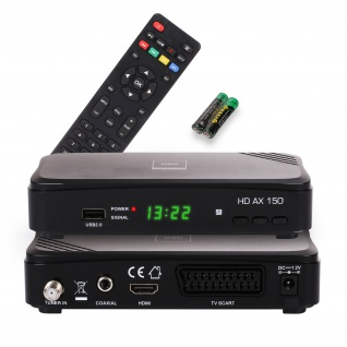 Opticum RED HD AX 150 Full HD Receiver 1080p, HDMI, USB, Scart, 12 Volt für Camping