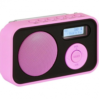 IMPERIAL DABMAN 12, pink (Mobiles DAB+ und UKW Radio)