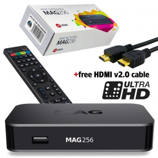 Infomir MAG 256 Original IPTV Streamer SET TOP BOX Multimedia Internet TV Konsole USB HD