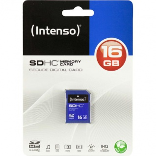 Intenso SDHC Memory Card 16 GB, blau (Secure Digital Card)