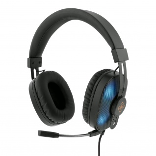 DELTACO GAMING RGB Stereo-Gaming-Headset (50 mm, 20Hz - 20kHz, wechselnde RGB-LED)