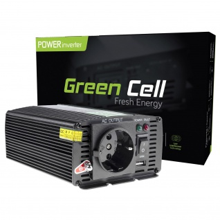 GREEN CELL VOLTAGE AUTO / CAR INVERTER 12V TO 230V, 300W / 600W