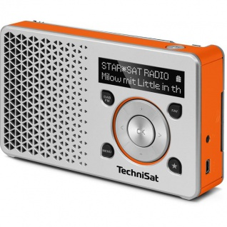 TechniSat DIGITRADIO 1 DAB+ Radio silber/orange