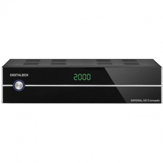 IMPERIAL HD 5 kompakt HDTV-Satelliten-Receiver (Display, HDMI, Audio-Video-Cinch, USB 2.0, Mediaplayer) schwarz (Zertifiziert und Generalüberholt)