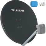 TELESTAR ASTRA/EUTELSAT 85 inkl. 2 Single-LNBs (Sat-Antenne 85 cm mit 2 Single-LNBs)