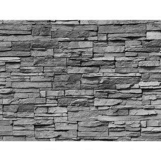 Leinwandbild Asian Stone Wall - anthrazit Steinoptik Steinwand Stonewall Steine   no. 126 - Vorschau 3