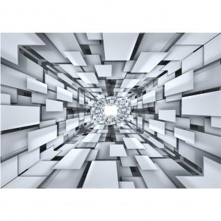 Fototapete 3D Tapete Abstrakt Muster Rechtecke Formen schwarz weiß   no. 2398