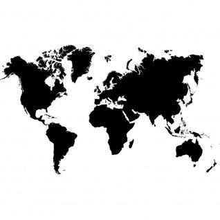 Fototapete Welt Tapete Erde Kontinente schwarz - weiß | no. 3034
