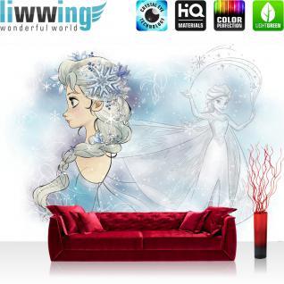 liwwing Fototapete 254x184cm PREMIUM Wand Foto Tapete Wand Bild Papiertapete - Kindertapete Disney - Die Eiskönigin Tapete Elsa Eiskönigin Frozen bunt - no. 3480
