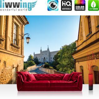 liwwing Fototapete 368x254cm PREMIUM Wand Foto Tapete Wand Bild Papiertapete - Architektur Tapete Schloss Festung Altstadt mediterran natural - no. 3348