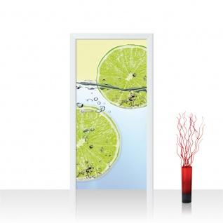 Türtapete - Limettenscheiben Wasser | no. 295