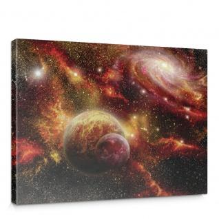 Leinwandbild Weltraum Weltall Galaxy Sterne Planeten Himmel | no. 1379