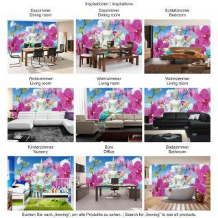 liwwing Vlies Fototapete 350x245 cm PREMIUM PLUS Wand Foto Tapete Wand Bild Vliestapete - Orchideen Tapete Buddah Orchidee Wolke Wasser Himmel Blüte blau - no. 589 - Vorschau 5
