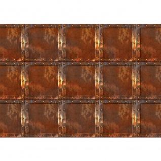 Fototapete Kunst Tapete Abstrakt Design Kacheln Metall Nieten braun | no. 2841