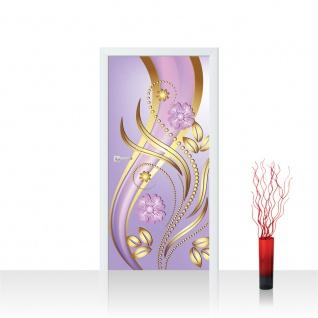Türtapete - Ornamente Blumen Ranke | no. 587