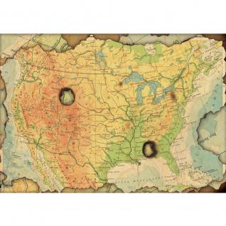 Fototapete Städte & Länder Tapete Landkarte Karte Kontinent Vintage Globus Atlas Reise gelb | no. 4314