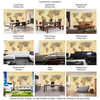 Fototapete Städte & Länder Tapete Landkarte Karte Kontinent Vintage Globus Atlas Reise ocker | no. 4325 - Vorschau 3