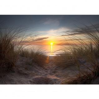 Fototapete North Sea Sunset Strand Tapete Strand Meer Nordsee Ostsee Beach Wasser Blau Himmel Sonne Sommer blau   no. 74