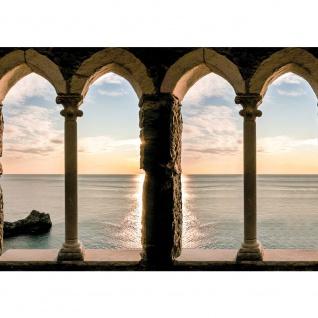 Fototapete Meer Tapete Festung Ausblick Meer Wasser blau   no. 2802
