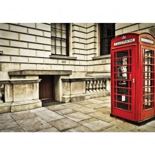 Fototapete London Tapete London Vintage Telefonzelle rot   no. 1346