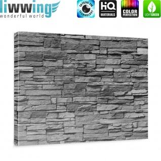 Leinwandbild Asian Stone Wall - anthrazit Steinoptik Steinwand Stonewall Steine   no. 126 - Vorschau 5