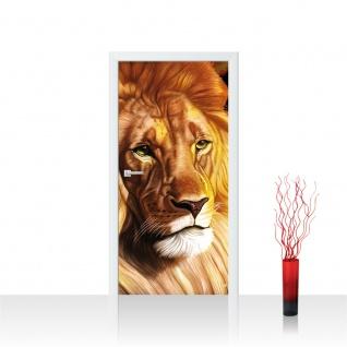 Türtapete - Löwe König der Tiere | no. 1019