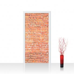 Türtapete - Red Brick Stone Wall Steinwand rot Steinoptik Verblendsteine Wandverblender | no. 136