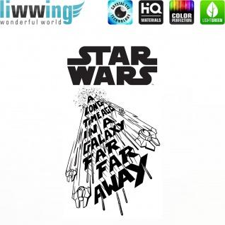 Wandsticker Disney Star Wars - No. 4670 Wandtattoo Sticker Kinderzimmer Laserschwert Weltall Raumschiffe Jungen