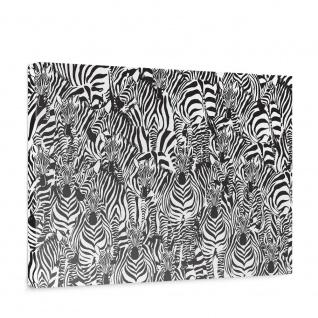 Leinwandbild Kunst Abstraktion Zebra Tier Modern Mosaik Design   no. 4340