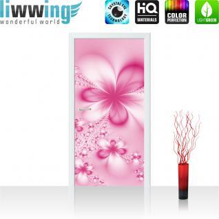 liwwing Vlies Türtapete 91x211 cm PREMIUM PLUS Tür Fototapete Türposter Türpanel Foto Tapete Bild - Blüten Malerei - no. 1004