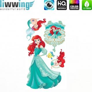 Wandsticker Disney Princesses - No. 4681 Wandtattoo Sticker Kinder Schneewitchen Arielle Cinderella Dornröschen
