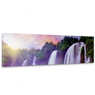 Leinwandbild Wasserfall Bäume Wald Thailand See Wasser Meer Sonne | no. 247