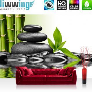 liwwing Vlies Fototapete 350x245 cm PREMIUM PLUS Wand Foto Tapete Wand Bild Vliestapete - Steine Wasser Natur - no. 203