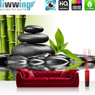 liwwing Vlies Fototapete 400x280 cm PREMIUM PLUS Wand Foto Tapete Wand Bild Vliestapete - Steine Wasser Natur - no. 203