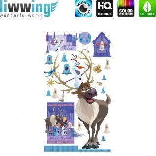 Wandsticker Disney Frozen - No. 4687 Wandtattoo Sticker Kinderzimmer Eiskönigin Schneemann Anna & Elsa Mädchen