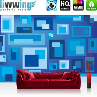 liwwing Vlies Fototapete 416x254cm PREMIUM PLUS Wand Foto Tapete Wand Bild Vliestapete - Kunst Tapete Abstrakt Kunst Rechtecke Design pink - no. 1553